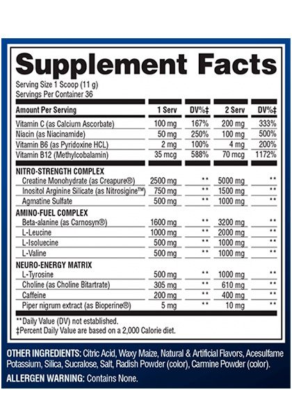 Superpump 3.0 supplement facts 396 gr