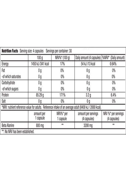 Beta alanine biotech usa supplement facts