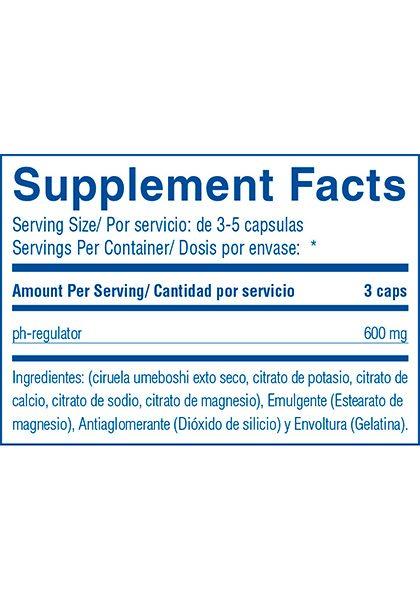 Reset ph regulator supplement facts