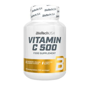 VITAMINA C 500 mg BIOTECH USA 120 tabletas masticables vitamina c 500 mg biotech usa 120 tabletas masticables 5