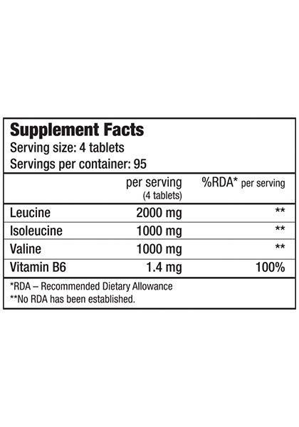 Bcaa b6 biotech usa aminoacidos ramificados supplement facts