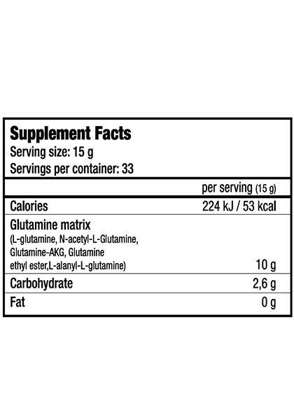Glutanator biotech usa informacion nutricional 300 gr