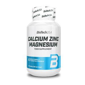 CALCIO ZINC MAGNESIO BIOTECH USA (100 TABLETAS) calcio zinc magnesio biotech usa 100 tabletas 4