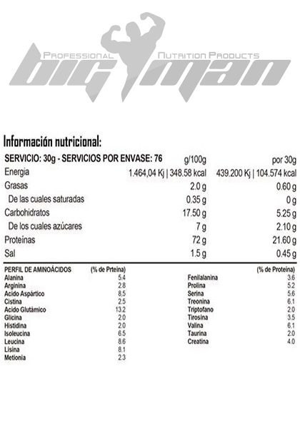 Proteina ultimate whey protein bigman 2 kg