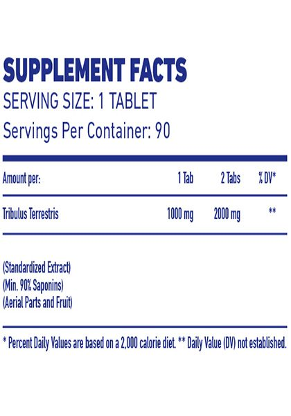 Tribulus pure 1000 mex nutrition supplement facts