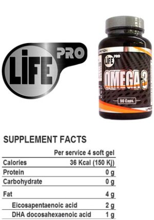 Omega 3 life pro suplement facts
