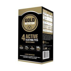 4 Active Electrolytes Gold Nutrition (10 stisks de 3 gr.) 4 active electrolytes gold nutrition 10 stisks de 3 gr. 3