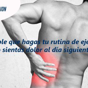 ¿Es posible que hagas tu rutina de ejercicios y tengas que reducir el dolor muscular al día siguiente?