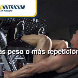 ¿Más repeticiones o peso? Consejos para tu entrenamiento de resistencia